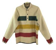Vtg. WOOLRICH Hudson Bay Striped BLANKET Pullover Shirt Jacket Size M USA Made
