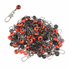 100pcs Fishing Ball Bearing Snap Pin Line Fishing Clip Swivel Connector