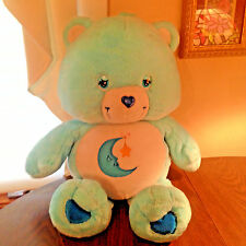 "Bedtime Care Bear Figure Plush Blue Moon Star 26"" Stuffed Vtg 2002"