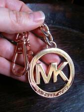 MICHAEL KORS ROSE GOLD MK KEY CHAIN FOB Clip Hook Signature Charm Heavy Metal