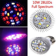 10W Full Spectrum SMD5730 LED Grow Bulb Greenhouse Hydroponics Plant Seedli