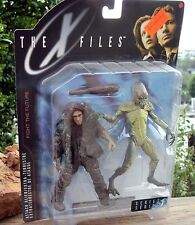 Vintage 1998 McFarlane Toys X-Files Fight the Future Attack Alien + Cave Man