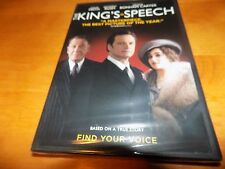 THE KING'S SPEECH COLIN FIRTH King George VI Geoffrey Rush WIDESCREEN DVD NEW