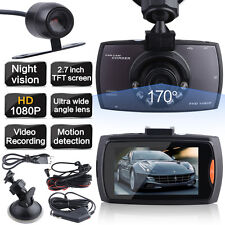"2.7"" HD 1080 Dual Kameras Vehicle DVR Dashcam Auto Vehikel Car Camcorder LEDS"