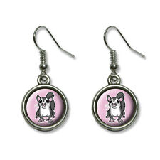 Sugar Glider on Pink - Novelty Dangling Drop Charm Earrings