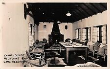 South Africa real photo postcard Camp Lounge Hluhluwe Game Reserve