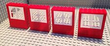 Lego Lot Of 4 Windows / Red & White / Build A House / City / Home