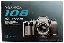 YASHICA Bedienungsanleitung * 108 Multi Program * User Manual Kamera (X2514