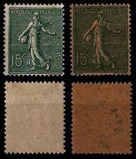 2 Types de SEMEUSE LIGNÉE n°130, Neufs * = Cote 9 € / Lot Timbres France
