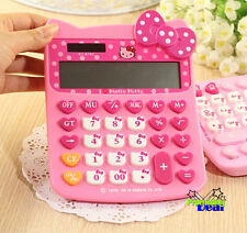 New Cute Hello Kitty Basic Desktop Electronic Calculator Pink