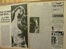 The Rolling Stones, Three Page Vintage Clipping