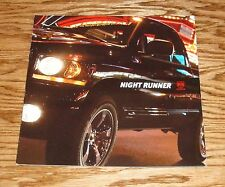 2006 Dodge Ram Night Runner Foldout Sales Brochure 06 Truck Pickup
