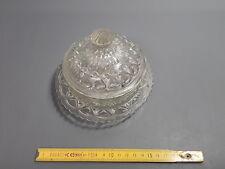 Ancien sucrier en verre vintage french antique candy box