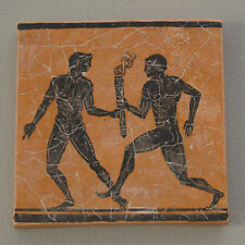 Nude Ancient Greek Olympic Games athletes runners plaque FRESCO reproduction