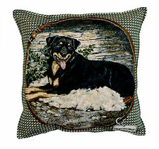 "ROTTWEILER Throw Pillow Tapestry New 17x17"" Dogs Made in USA Rottie"