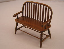 Bench- Colonial Windsor -  T6845 miniature wooden dollhouse furniture 1/12 scale