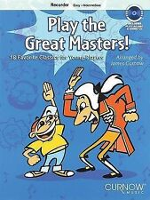 Play the Great Masters!: 18 Favorite Classics for Young Players - Recorder, , Ne
