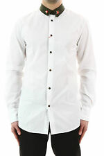 DSQUARED D2 MEN'S  WHITE MILITARY  SHIRT  48  BNWT 100% AUTHENTIC!