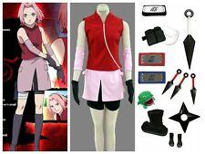 Naruto Shippuden Sakura Haruno Women's Cosplay Costume set