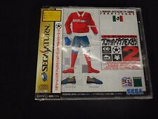 J-League Official TV Sakatsu 2 Soccer Sega Saturn New Sealed Japanese Import