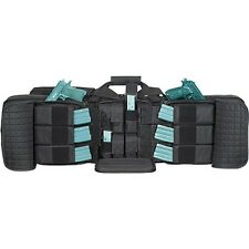 """Voodoo Tactical 42"""" Deluxe Padded Double Weapons Rifle Case w/Mag Pouch Black"""