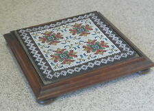 antique mhogany with glass bead work TEA POT STAND