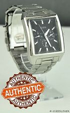 New GUESS Unisex Men Watch Silver Stainless Steel W0077G1 BNWT USA
