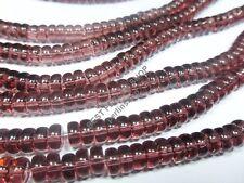 115 PERLEN GLAS RONDELL LILA NEU GLASPERLEN 6mm NEW GLASS BEADS DIY D132D
