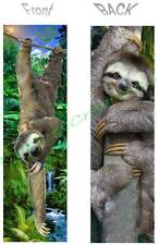 3 Toed SLOTH BOOKMARK-ART Rain Forest Animal - Book Mark Card Figurine Ornament