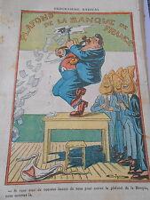 Caricature Politique Plafond de la Banque de France Tete de Poire Print 1928
