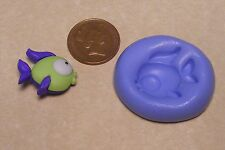 Reusable Fish-1 Silicone Mould Sugarcraft Jewellery Card Topper Food Safe N