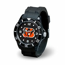 Cincinnati Bengals NFL Football Team Men's Black Sparo Spirit Watch