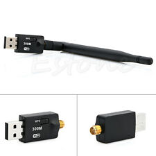 Receiver 300Mbps USB Wireless Wifi Adapter Dongle LAN 802.11n/g/b Internet