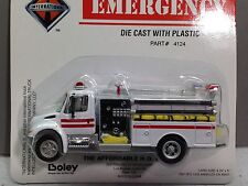HO 1/87 Boley # 4124-71 I.H. 4300 Single Axle Fire Pumper Truck White