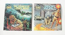 Star Wars Droid World & Planet of the Hoojibs book lot SEALED NEW Records 1983
