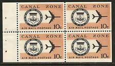 Canal Zone SC# C48a Mint 10c Air Mail Booklet Pane of 4 OG NH