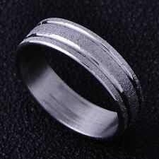 Fashion jewelry 14K White Gold Plated mens Boys Womens Silver Band Ring Size 8