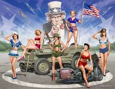 "Master Box 35183 ""Pin-UP"" Army Girls  6 Figures  Scale 1/35"