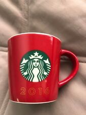 Starbucks Small Red Coffee Mug Espresso Demitasse Cup 3 Fl Oz 2016 Logo