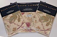 3PC Ralph Lauren WILTON ROSE Floral QUEEN DUVET COVER SET Victorian Cottage