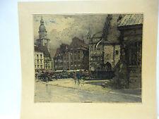 Dortmund - Luigi Kasimir / Original Radierung  von 1934 (Mai 34) signiert.