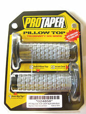 Pro Taper Pillow Top Grey / Black Twist Throttle Grips CRF YZF SXF RMZ KXF EXC
