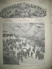 VICTOR HUGO FUNERAILLES VUES DE ANVERS NOUVEAUX ENGINS DE GUERRE GRAVURES 1885