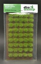 DioDump DD011-C  6mm realistic grass tufts BRIGHT GREEN 45 pcs diorama scenery