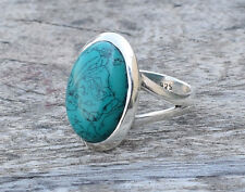 925 BIG STERLING SILVER TURQUOISE RING STONE US RING SIZE 5 6 7 8 9 10 11 12