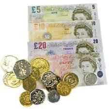 Play Fake Money Cash Coins Notes Pounds £ Sterling Pretend Shop Game Toy Bank