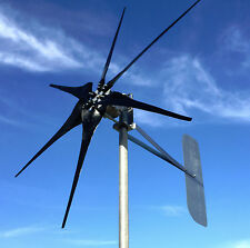 Low Wind Turbine Generator 500 Watt SCORPION 48 AC 3/wire PMA 6 black blades