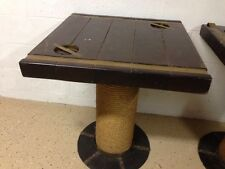 Nautical WWII ship hatch antique tables