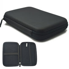 "7"" Portable Black Hard Carry Case Zipper Bag Pouch For HDD GPS Garmin Nuvi"