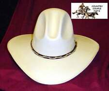 Tom Mix Gus Style Canvas Straw Cowboy Hat - Size 7 1/2